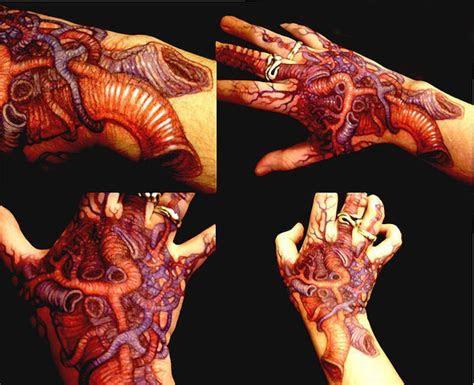 bunch veins organic tattoo hand tattoo ideas