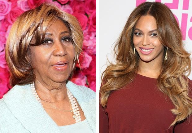 Aretha Franklin e Beyoncé (Foto: Getty Images)
