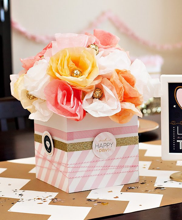 Pink Gold Confetti Bridal Shower Diy Party Decor Hostess With