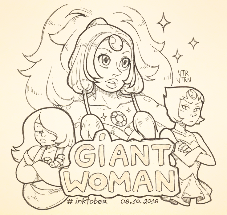 "Inktober - Day 6 Episode 1-12 ""Giant Woman"" ART TAG"