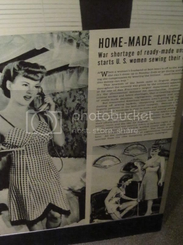 wwii make your own lingerie article