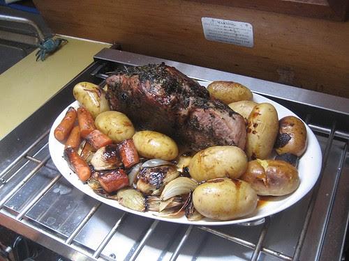 Cobb cooker dinner