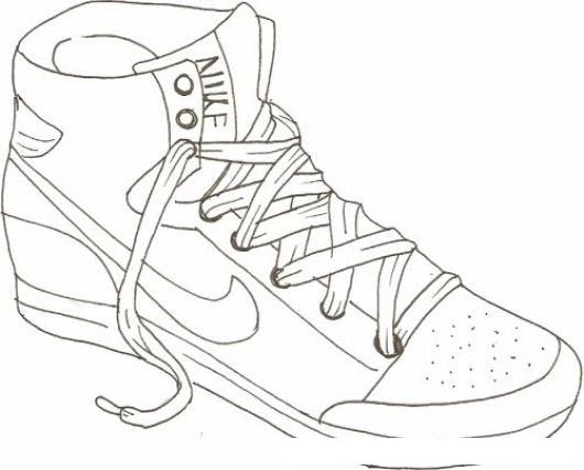 Tenis Nike De Basquetbol Para Pintar Y Colorear Colorear Dibujos