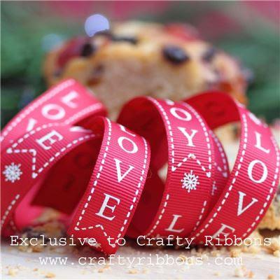 Christmas Charm Ribbon - Joy Love Peace