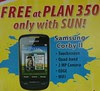 Samsung Corby II Free at Sun Cellular Plan 350