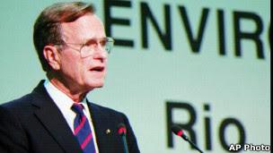 George H. Bush na Rio 92 (Foto AP)
