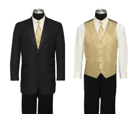 Black, Cream, & Gold Groomsmen? : wedding groomsmen