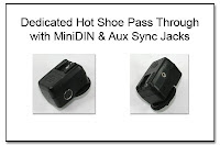 OC1023: Dedicated Hot Shoe Pass Through with Mini-DIN and Aux Sync Jacks