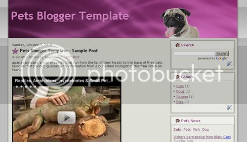 Pets Blogger Template