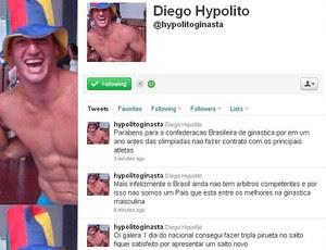 Diego Hypolito ginástica twitter (Foto: Reprodução/Twitter)