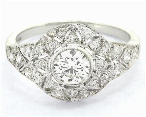 1.00ct Antique Style Diamond Engagement Ring HD076 Ireland