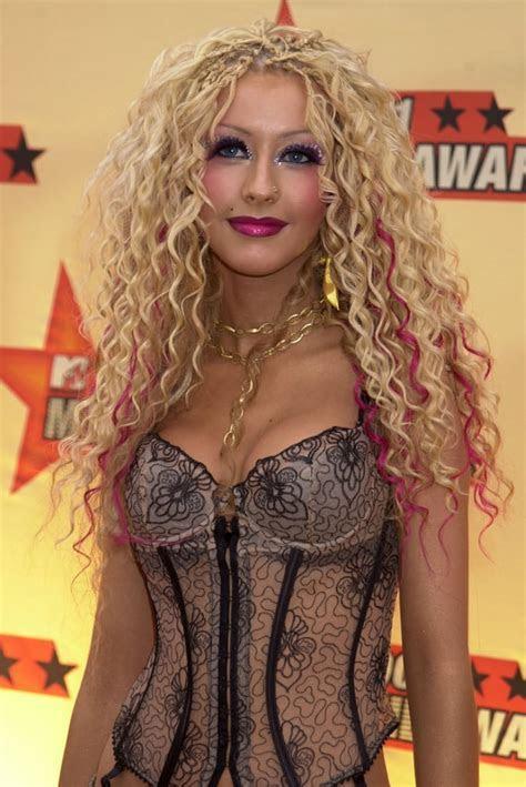 Christina Aguilera   Best MTV Movie Awards Hair   POPSUGAR
