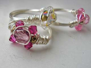 Sparkly Crystal Ring by Cheryl Lloyd