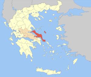 Locator map of Euboea prefecture (Νομός Εύβοια...