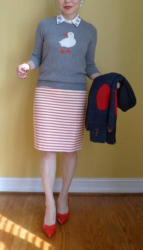 puffin in stripes