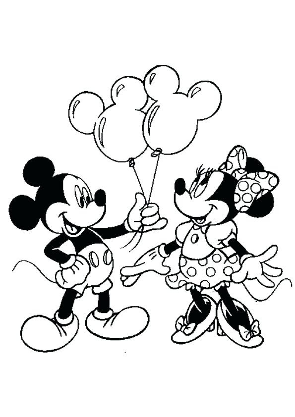 Minnie Mouse Drawing Pages At Getdrawingscom Free For Personal
