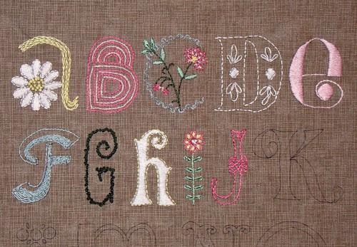 Daisy Chain ABC Crewelwork Sampler