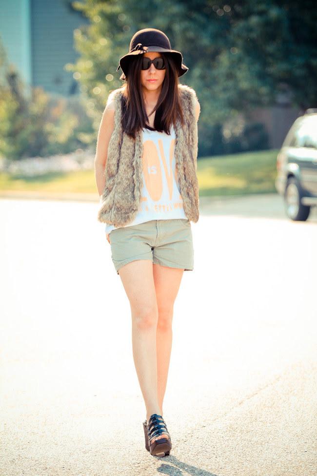 Faux Fur Vest, Rosie Huntington-Whiteley, Coachella Fashion