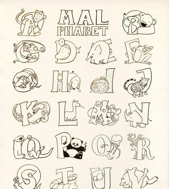 malvorlagen alphabet ausdrucken  aglhk
