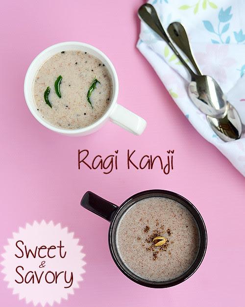 sweet-salt-ragi-kanji recipe