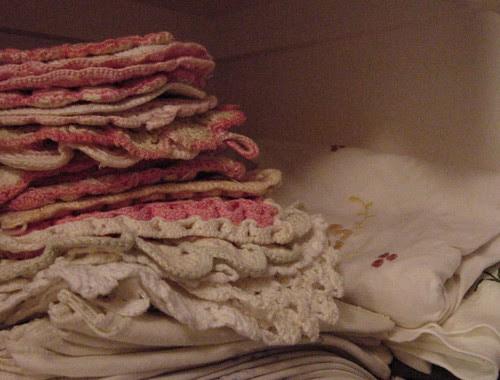 Pink Crocheted Potholders
