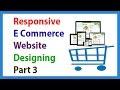 Responsive E Commerce Website Designing Part 3 Creating Header