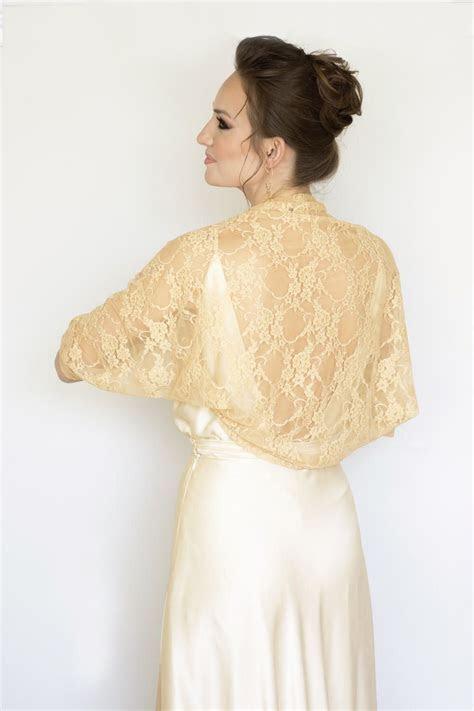 Gold bolero, bridesmaid shawl, gold bridal bolero, wedding