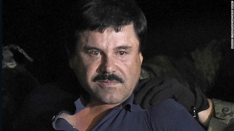 """Drug kingpin Joaquin """"El Chapo"""" Guzman is facing trial in New York."""
