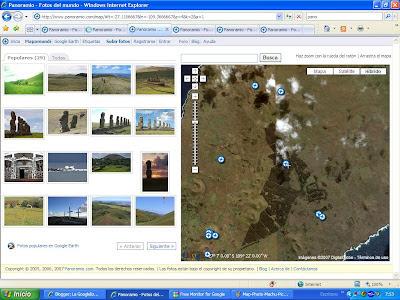 Map and Photos. Web 2.0. Fotos, Mapas y Rutas por la Alhambra, Machu Picchu, Chichen Itza, Isla de Pascua, Cristo Redentor