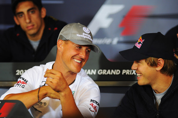 Sebastian Vettel and Michael Schumacher - F1 Grand Prix of Belgium - Previews