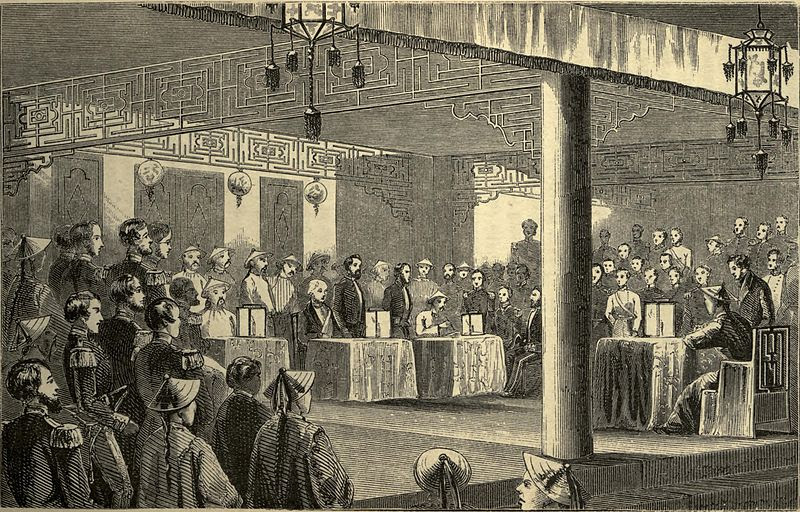 File:Signing the Treaty of Tientsin.jpg