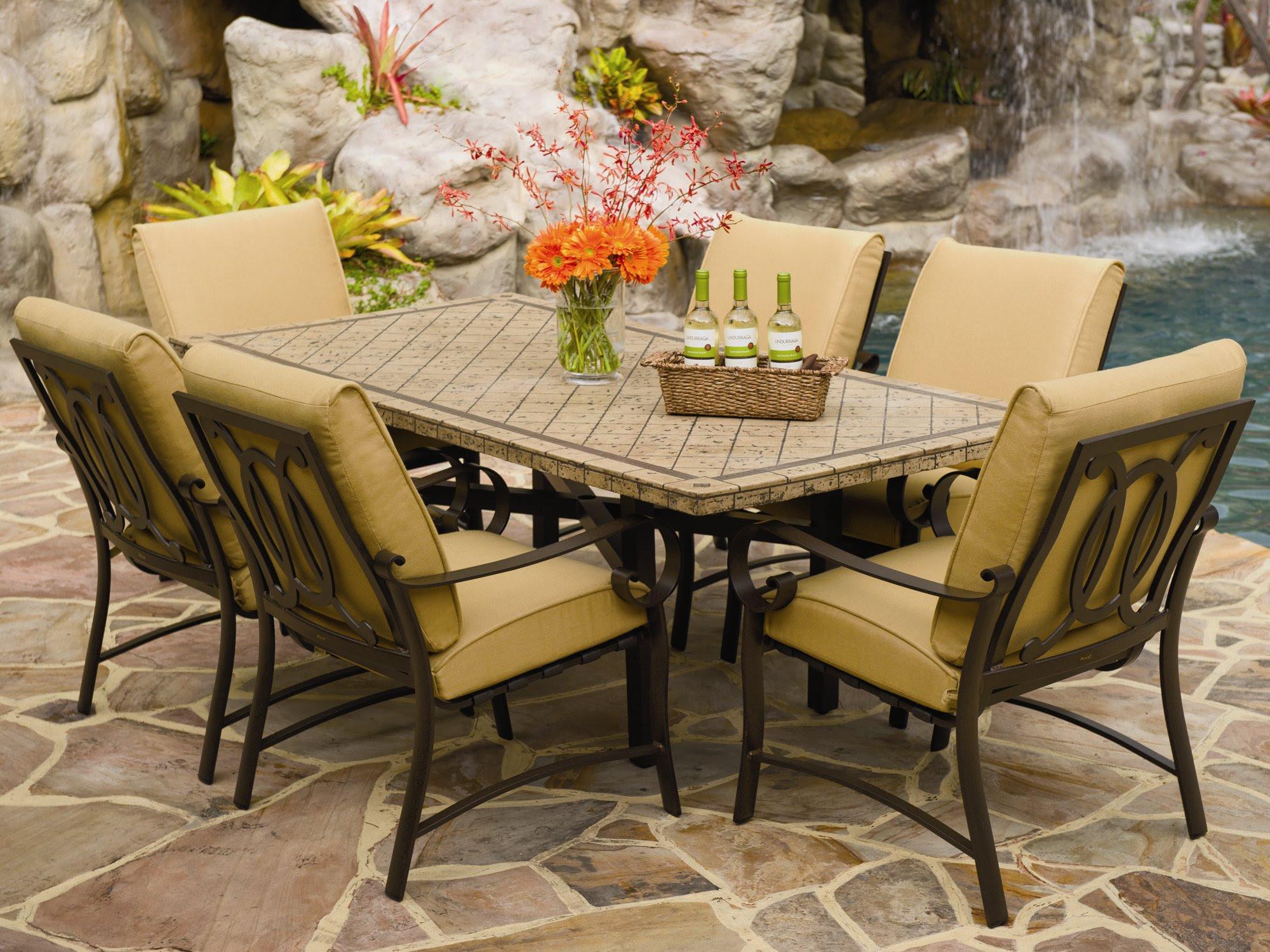 Stone Patio Tables Ideas - HomesFeed