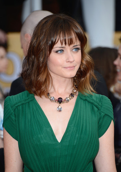 Actress Alexis Bledel arrives at the 19th Annual Screen Actors Guild Awards held at The Shrine Auditorium on January 27, 2013 in Los Angeles, California.