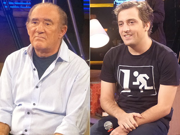 Renato Aragão e Gregório Duvivier (Foto: Na Moral/TV Globo)
