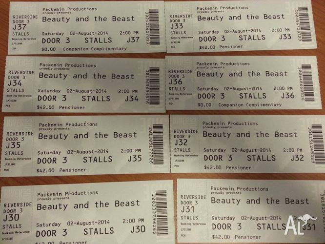 Beauty and the Beast Tickets for Sale in ABERMAIN, New ...