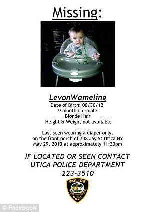 Delayed: Levon Wameling was reported missing by his grandparents on Tuesday, two weeks after anyone last saw him
