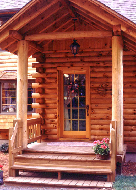 Log Home Front Door Options Real Log Homes