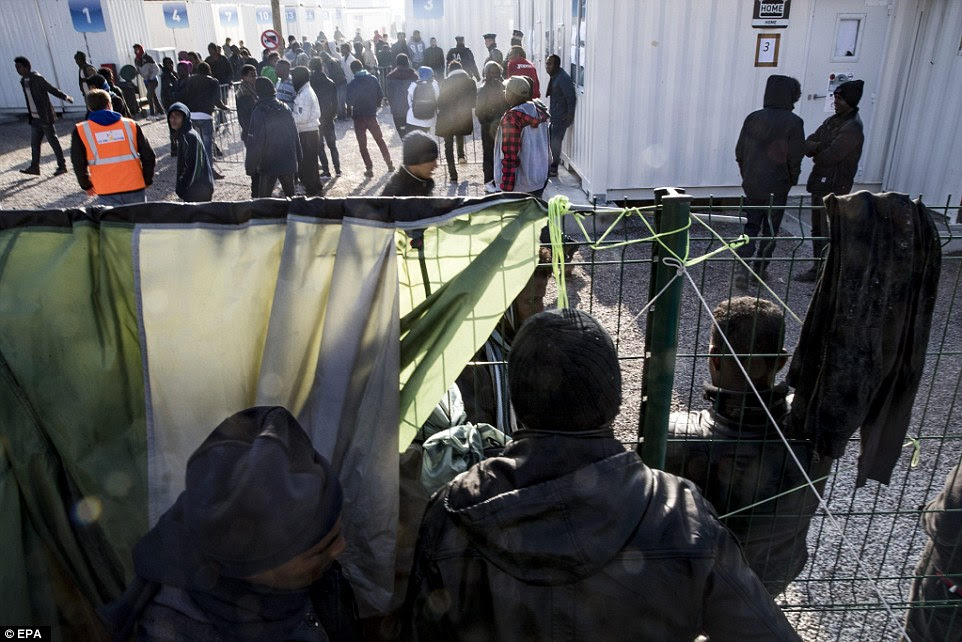 Migrants have been warned they must apply for asylum in France or face deportation