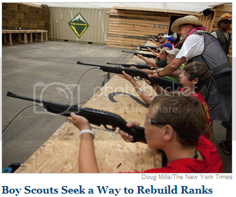 Boy Scouts shooting guns, because why not?