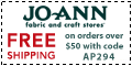 Free shipping at Joann.com! Code: AP167