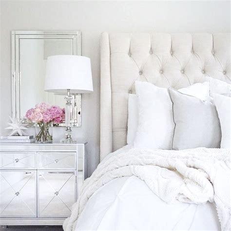 Arhaus linen tufted bed mirrored nightstand target decor