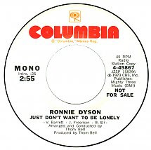 45cat Ronnie Dyson Just Dont Want To Be Lonely Mono Just