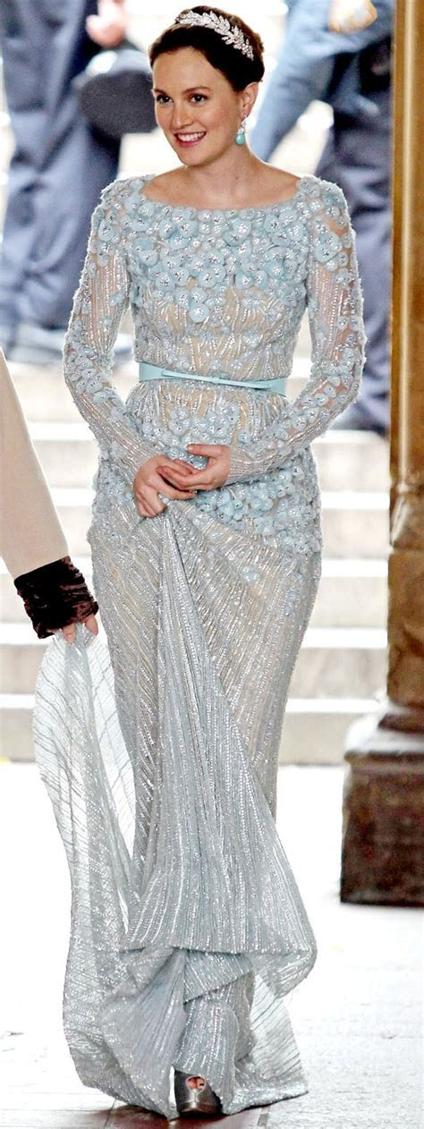 Blair Waldorf 'something blue' wedding gown by Elie Saab