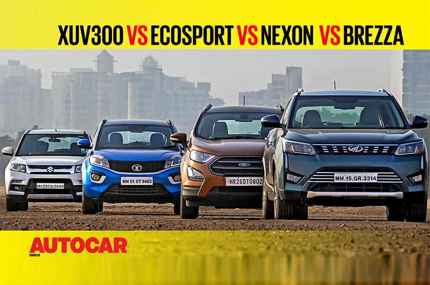 Mahindra Xuv300 Vs Ford Ecosport Vs Tata Nexon Vs Maruti