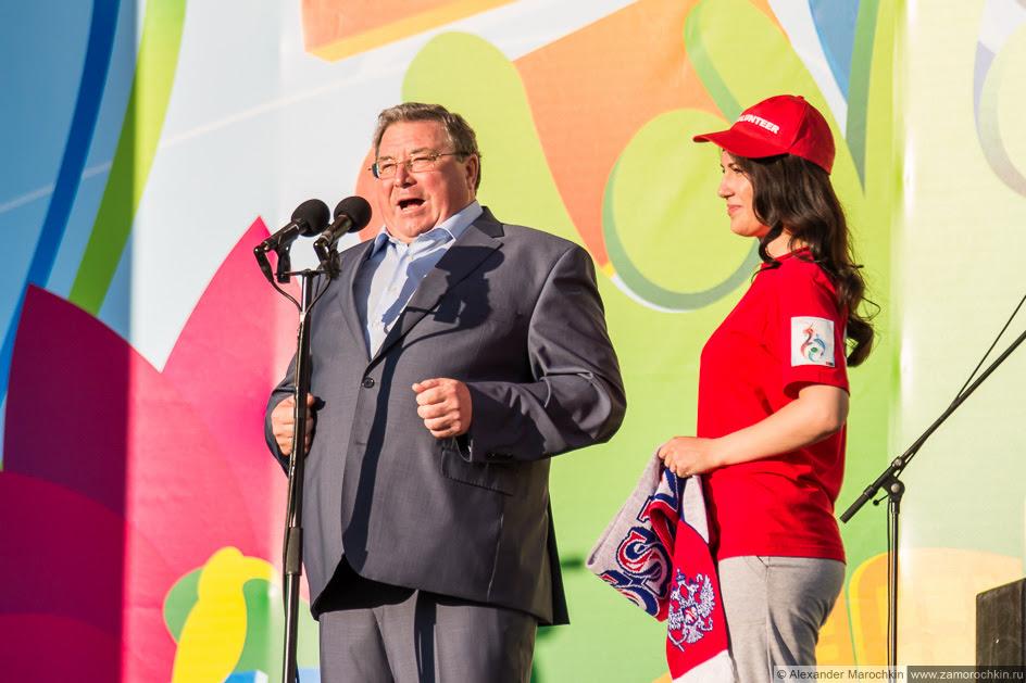 Глава Республики Мордовия Владимир Волков на фестиваля FIFA Fan Fest