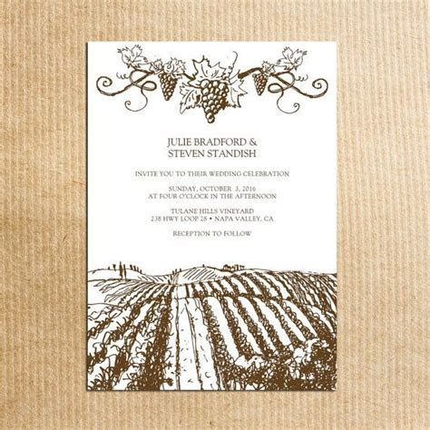 1000  ideas about Winery Wedding Invitations on Pinterest