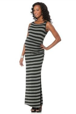 Lavish By Heidi Klum Sleeveless Maternity Maxi Dress