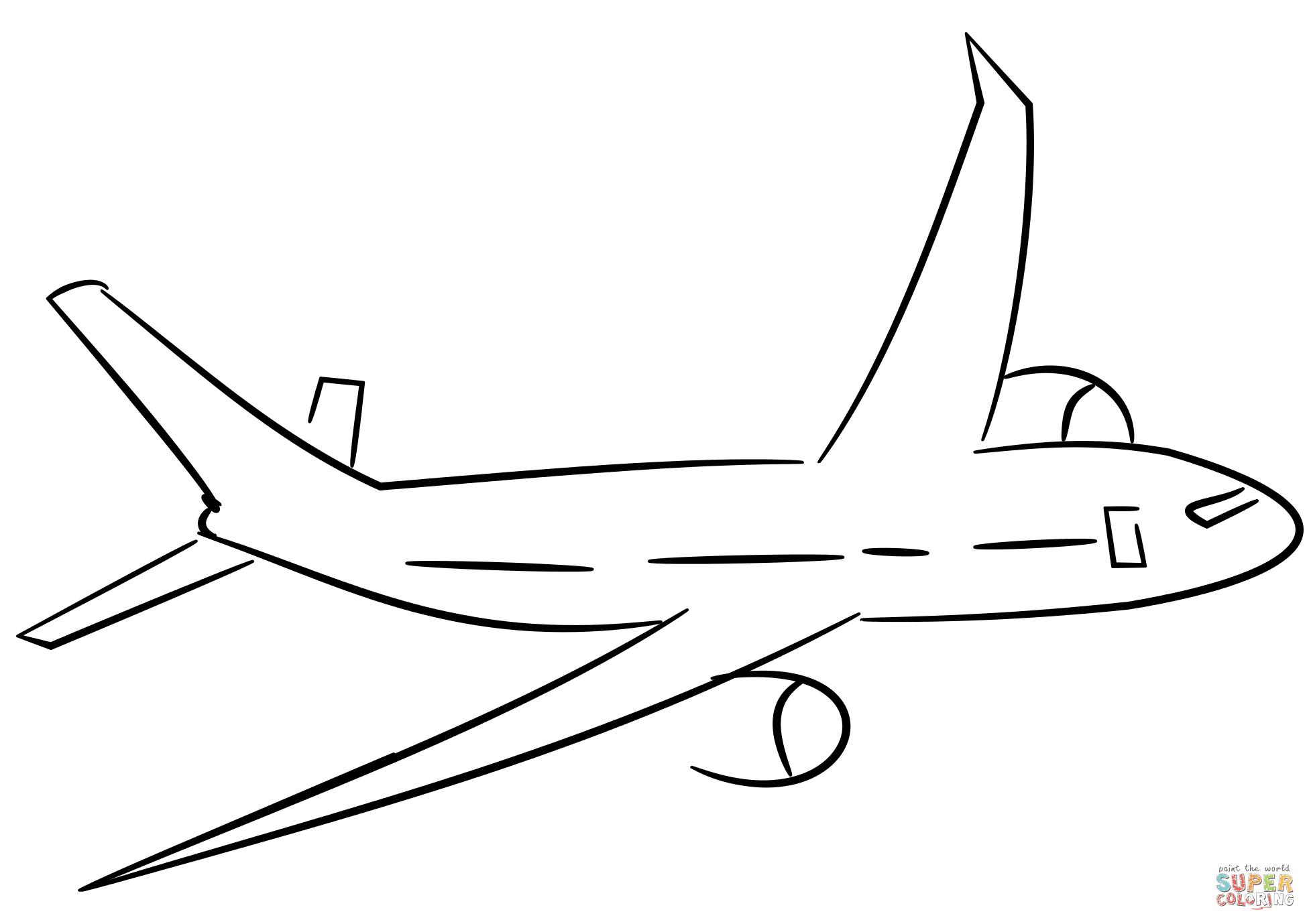 Dibujo De Avión Para Colorear Dibujos Para Colorear Imprimir Gratis