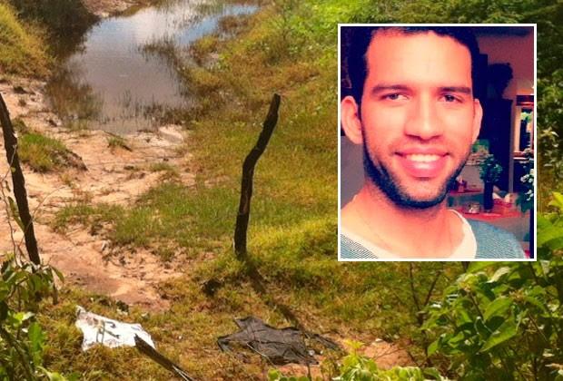 Vestes de Petronyo Costa foram achadas às margens da lagoa onde o corpo dele foi encontrado (Foto: Igor Jácome/G1)