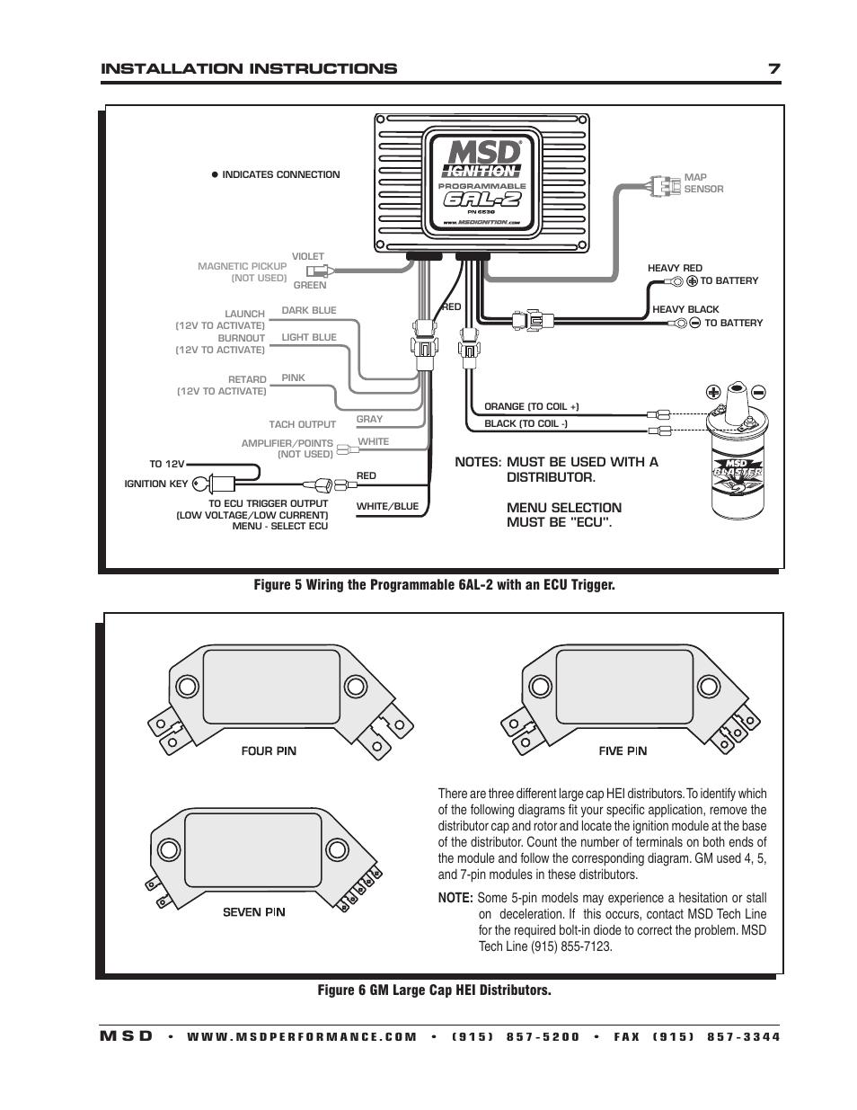 Wiring Diagram Database  Msd 6al 2 Wiring Diagram